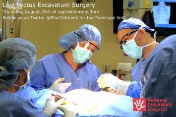 Live Pectus Surgery Aug 25, 6pm EDT